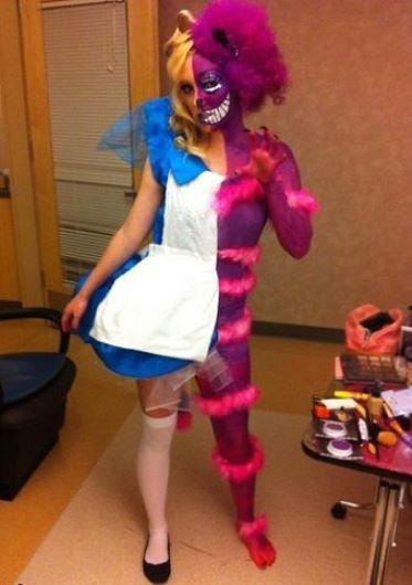 Alice in Wonderland Cheshire Cat Costume DIY